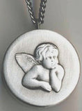 guardian angel communion rosary box pendant