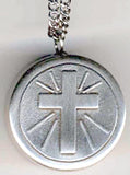 communion cross rosary box pendant