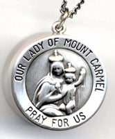 our lady of mount carmel rosary box pendant