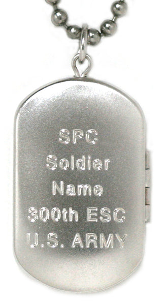 Sterling Silver US MARINE CORPS Dog Tag Locket Pendant