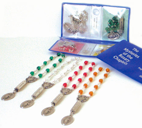 Mysteries Chaplets Rosary Beads and case