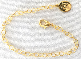 "Gold Dipped 6"" extender chain for slide locket necklaces"