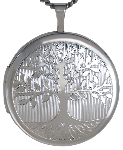 sterling silver tree of life round locket