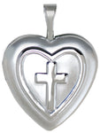 sterling 16mm embossed cross locket