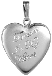 Sterling Forever In My Heart Memorial Heart Locket