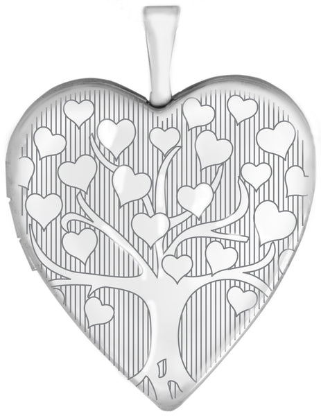 sterling silver tree of love heart locket