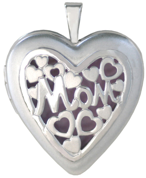 overlay sterling mom heart locket