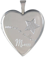 One in a million mom sterling silver locket