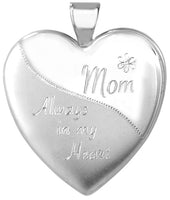 mom always in my heart sterling heart locket