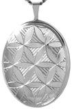 sterling silver flower of life oval locket