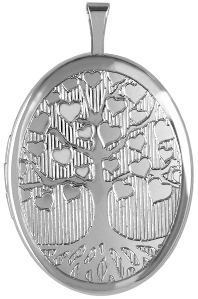 sterling silver tree of love oval locket