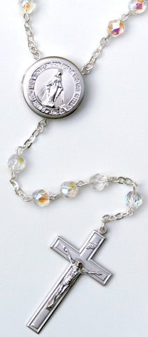 Miraculous Locket center Rosary Beads
