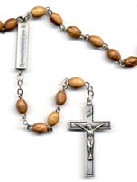 Olive Wood Mysteries Rosary Beads