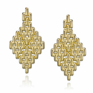 14k Gold Dipped Statement Tailored Door Knocker Earrings
