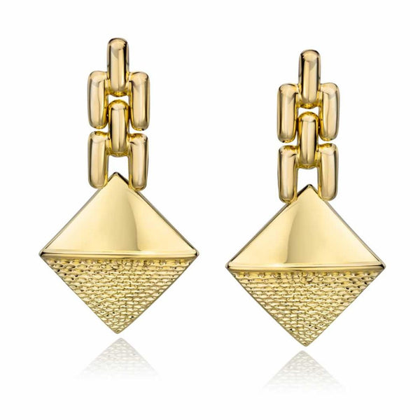 14k Gold Dipped Hollow Tailored Swing Earrings
