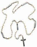 Crystal AB Mysteries Rosary Beads