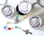 World Peace Rosary Boxes, World Peace Rosary Box Key Chains, World Peace Rosary Box Pendants