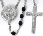 Holy Spirit Confirmation locket rosary beads