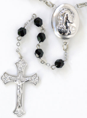 Sacred Heart Locket Rosary Beads