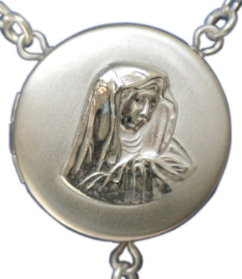 our lady of sorrows locket rosary beads