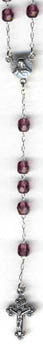 "RS-103 11"" Czech Glass AMETHYST Rosary Beads"