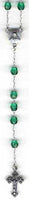 "RS-106 11"" Czech Glass EMERALD Rosary Beads"