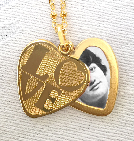 Love Heart Slide Locket Necklace