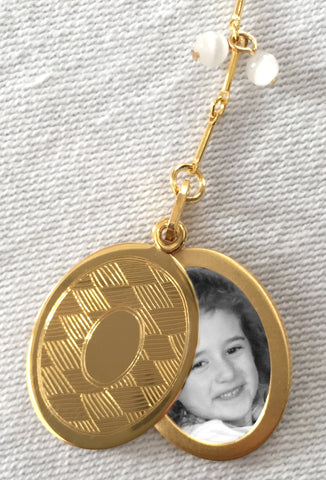 Mirror Mirror on My Heart Oval Slide Locket Necklace