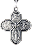 Sterling Silver Large 4 Way Cross