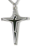 Sterling Silver Contemporary Crucifix with enamel