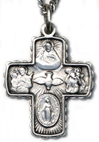 Sterling Silver Small 4 Way Cross