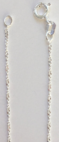 "18"" sterling twisted link chain .93 grams 1mm wide"