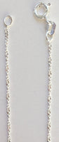 "18"" sterling twisted chain .93 grams 1mm wide"