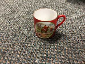 Equestrian Riding by Crown Victoria Czechoslovakia Small Cup