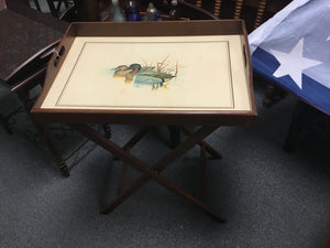 Duck Motif Serving tray on Stand
