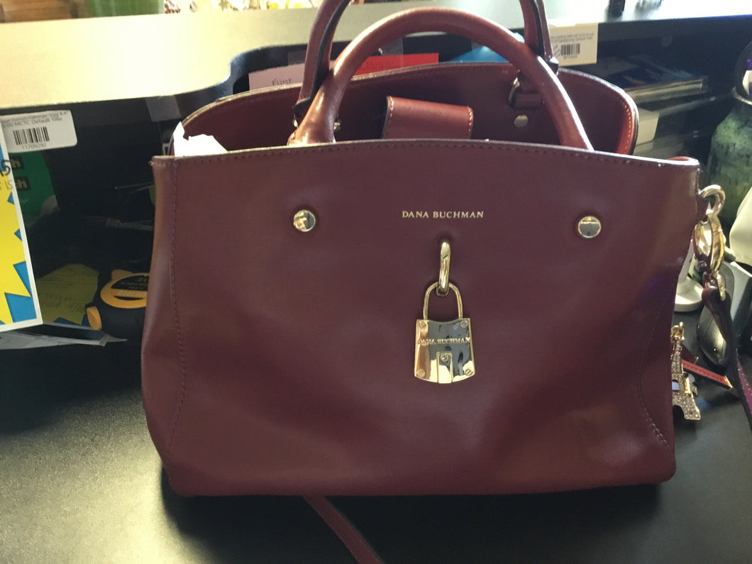 DANA BUCHMAN cordovan shoulder & hand bag