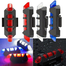 Drop Shipping 2017 New 1PC Cycling Light 5 LED USB Rechargeable Bike Bicycle Tail 4 Model Warning Light Rear Safety #EW
