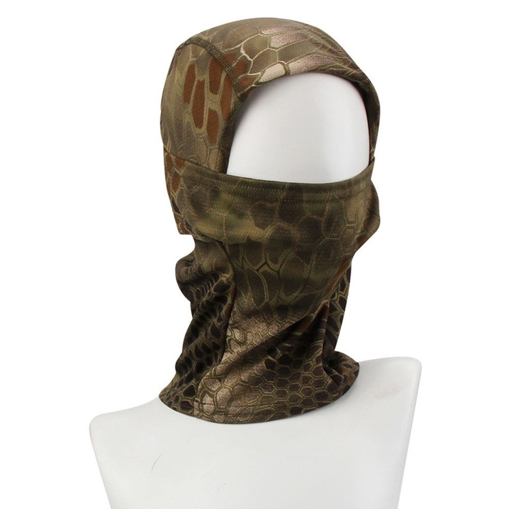 Camouflage Army Cycling Motorcycle Cap Hats Full Face Mask Headwear Cycling Neck Gaiter Outdoor Dustproof Windproof Mask