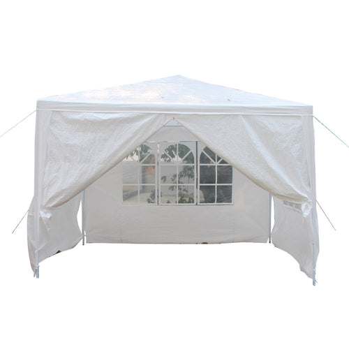 10'x10' 4 Walls Outdoor Canopy Party Wedding Tent Heavy duty Gazebo Awnings NEW