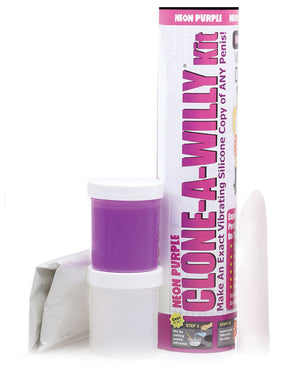 Clone-a-willy Kit Vibrating - Neon Purple