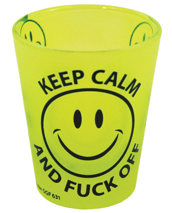 Keep Calm & Fuck Off Shot Glass - Yellow
