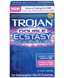 Trojan Double Ecstasy Condoms - Box Of 10