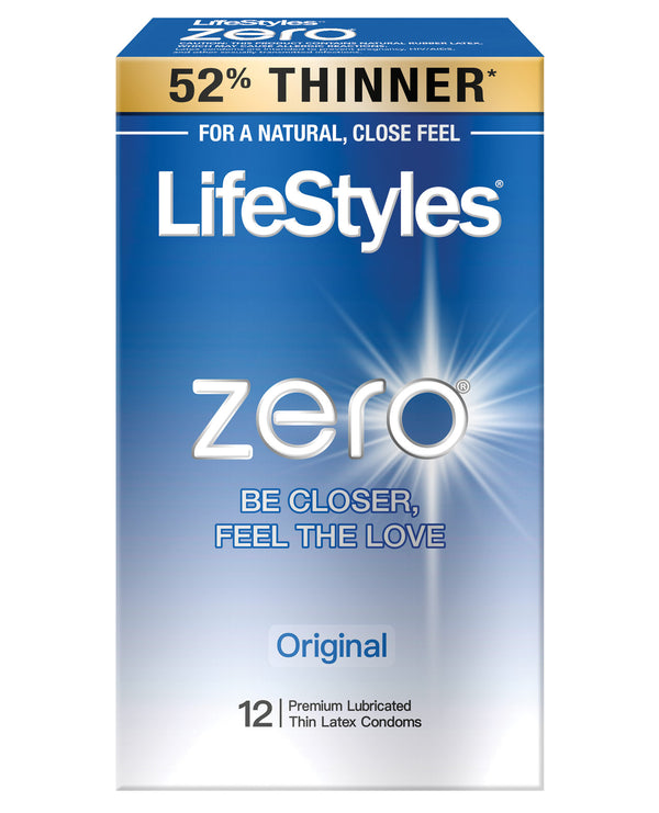 Lifestyles Zero Original Condoms - Pack Of 12