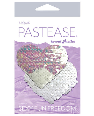 Pastease Color Changing Flip Sequins Heart - Pearl-white O-s