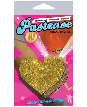 Pastease Glitter Heart - Gold O-s