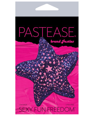 Pastease Glitter Starfish -purple O-s
