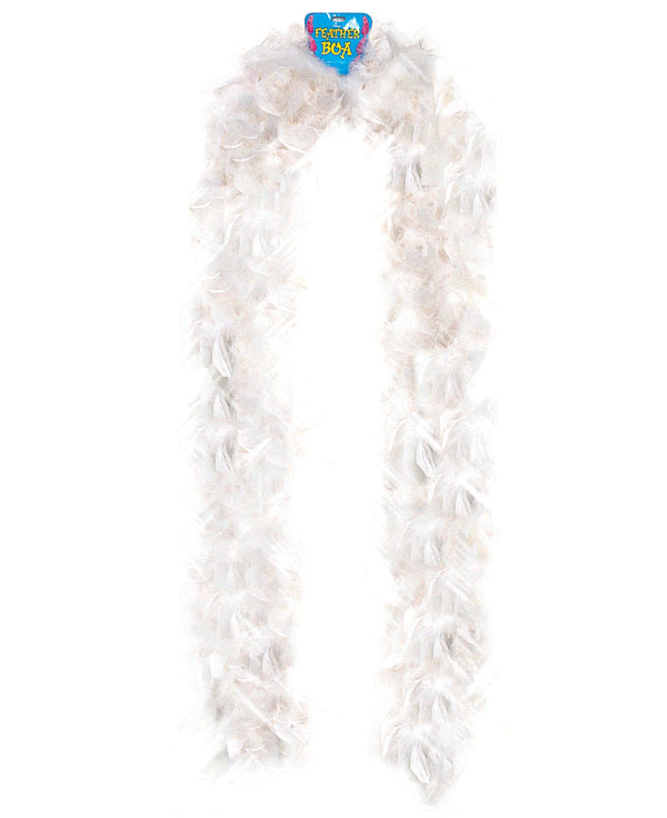 Lightweight Feather Boa - White