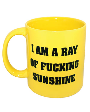 Attitude Mug I Am A Ray Of Fucking Sunshine - Yellow