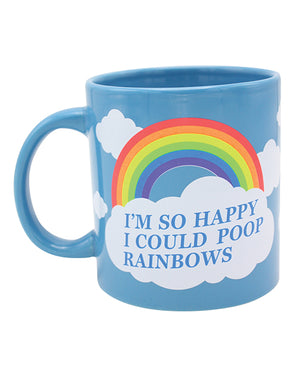 Attitude Mug I'm So Happy I Could Poop Rainbows - 22 Oz