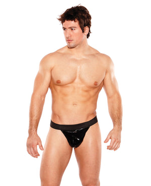 Zeus Wet Look Thong Black O-s